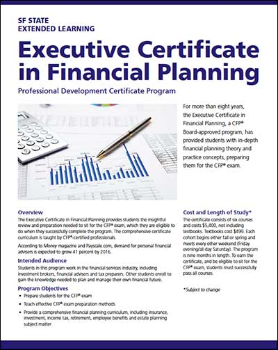 Executive Certificate in Financial Planning Brochure (Portable Document Format)