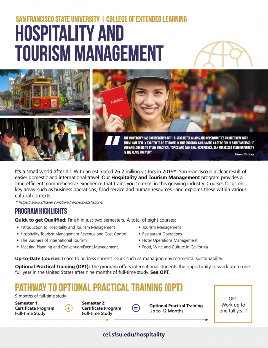 Hospitality and Tourism Management Brochure (PDF)