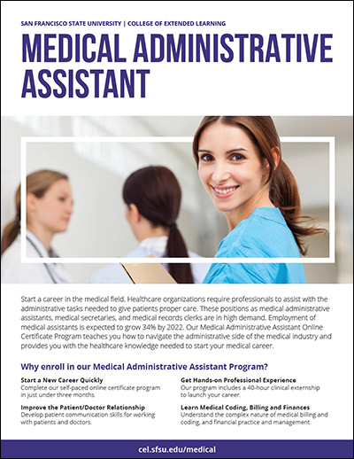 Brochure | Medical Administrative Assistant Online | San Francisco ...