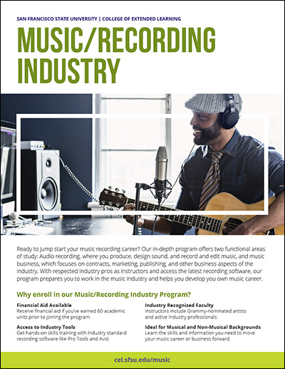 MusicRecording Industry Brochure  College Of Extended Learning