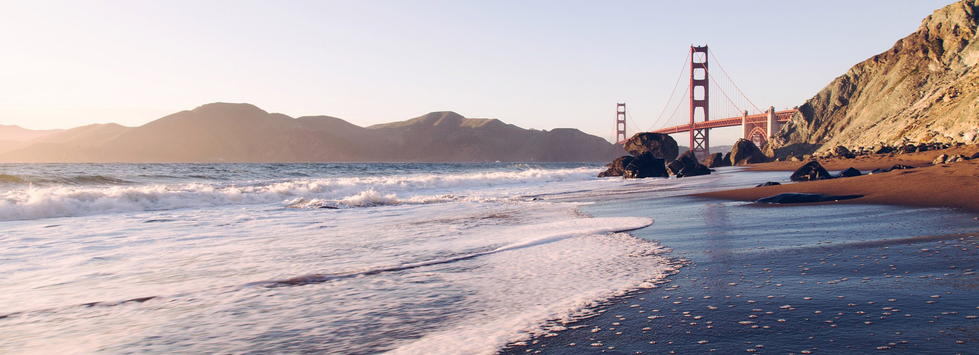 San Francisco Beach and Golden Gate Bridge