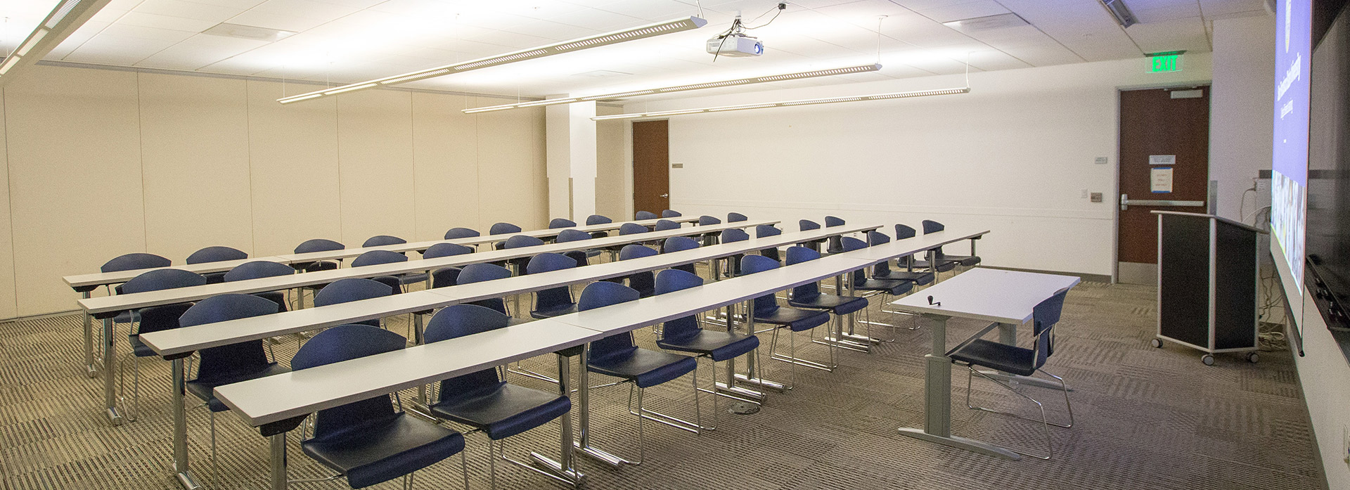 A conference meeting room at the SF State Downtown Campus