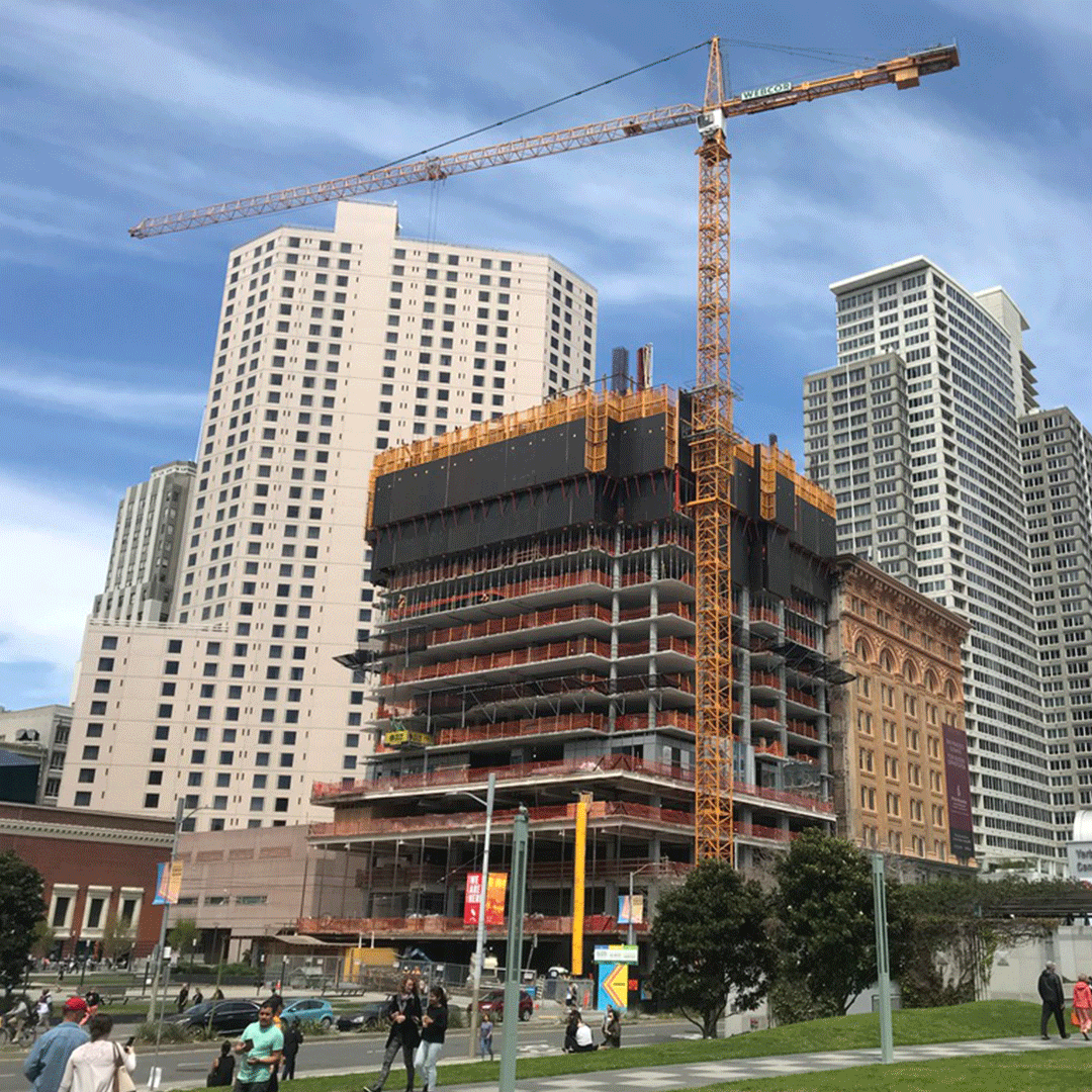 Downtown San Francisco Construction Site