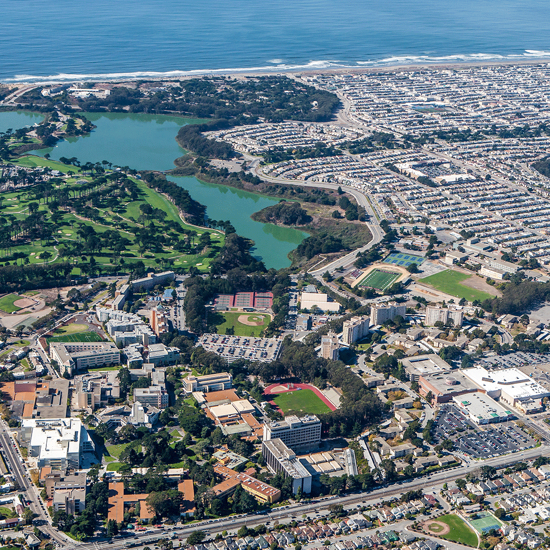Aerial view of SF State