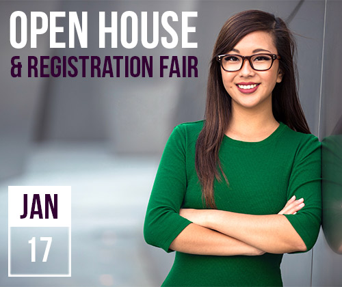 Open House & Registration Fair, January 9