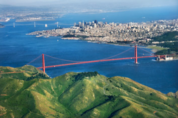 Photo: Bay Area aerial view