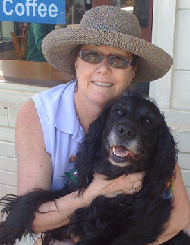 Photo: Paralegal/teacher Pam Wolpa with her dog Lily