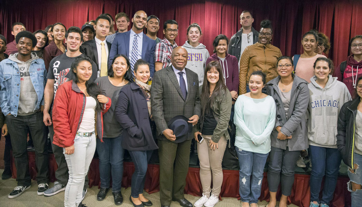 Willie Brown and the fellowship scholars
